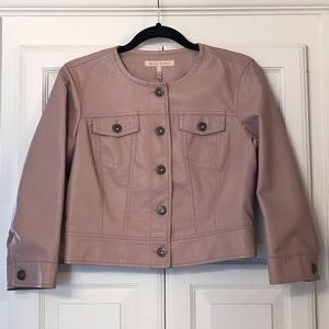 NWOT Baccini Crop Faux-Leather Jacket